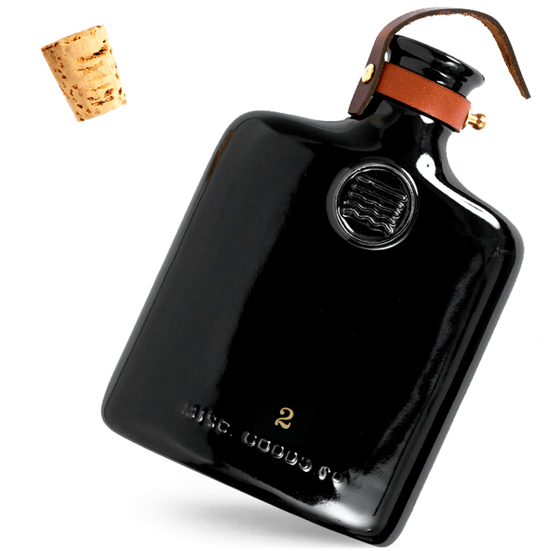Black Ceramic Flask | 11oz | Misc. Goods Co.