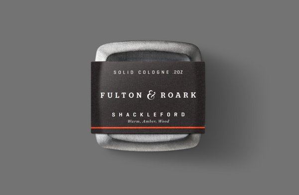 Fulton & Roark Shackleford Solid Cologne available at Manready Mercantile