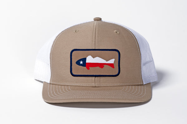 redfish hat mesh hat khaki snap back richardson 112 manready mercantile
