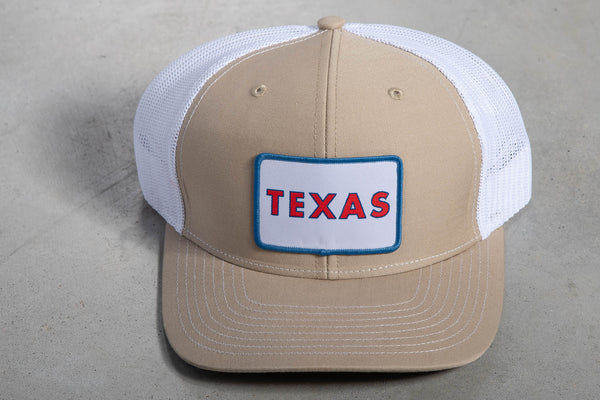 112 Richardson Hat | Khaki + White | Grey Texas Patch | Manready Mercantile