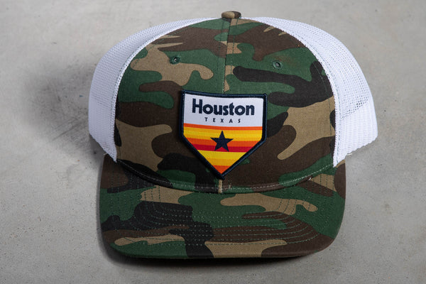 112 Richardson Hat | Camo + White | Houston Home Plate Patch | Manready Mercantile