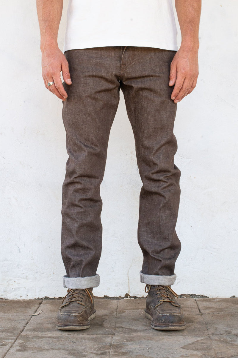 Rios Slim Straight | 13 oz. Brown | Freenote Cloth