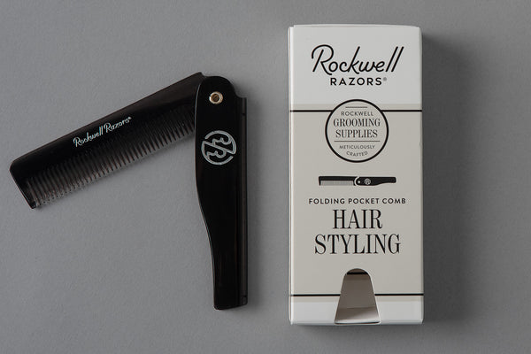 Folding Hair Comb | Black | Rockwell Razor