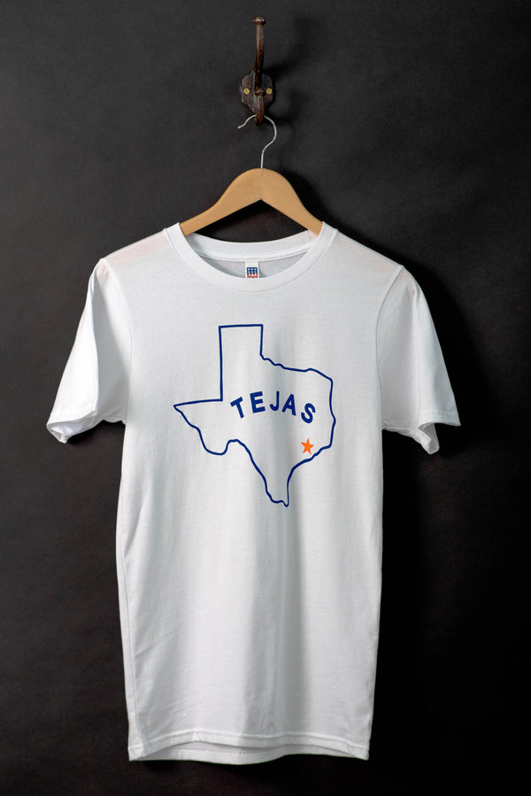 Shop Graphic Tee | Tejas | White | Royal Apparel x Manready Mercantile