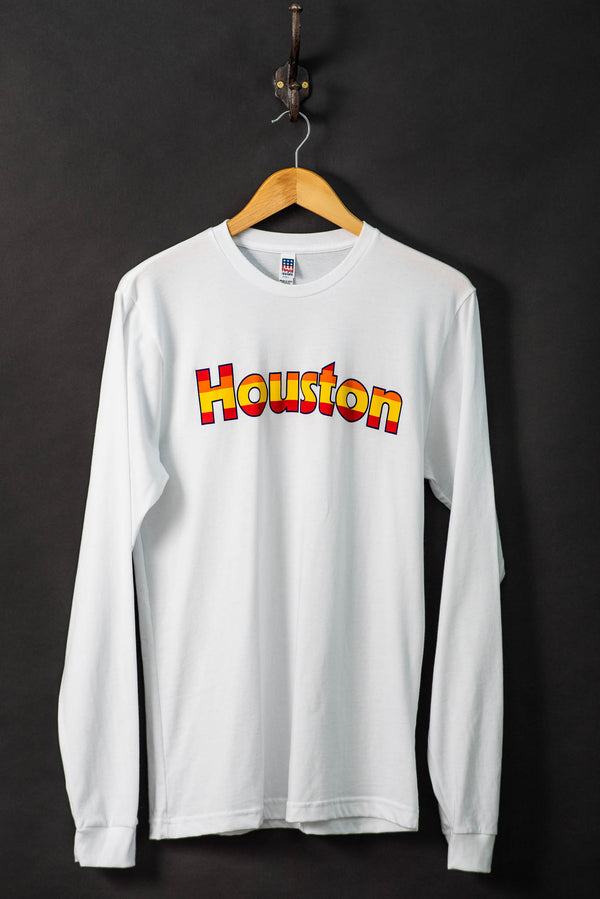 Shop Graphic Tee | LS Retro Houston Astros | White | Royal Apparel x Manready Mercantile