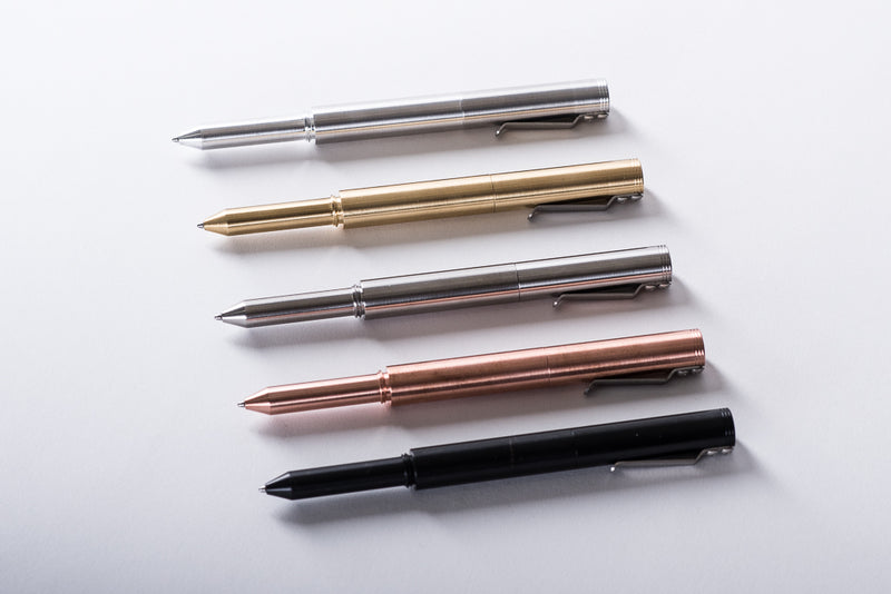 Handmade pen brass copper black stainless steel aluminum manready mercantile