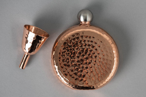 Espadin Luna Flask | 6oz | Sertodo Copper - Manready Mercantile