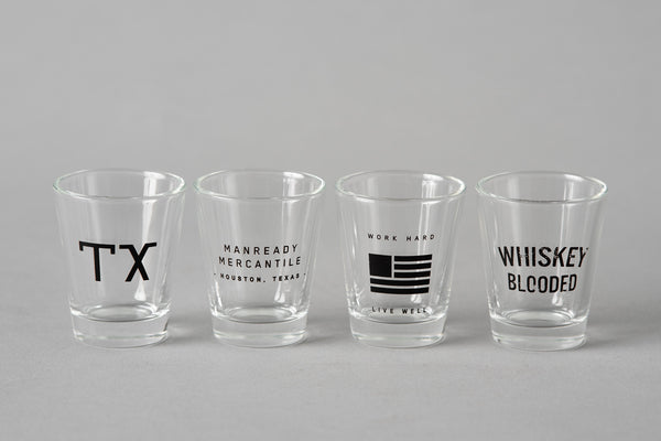 Manready Mercantile x Three Potato Four Shot Glasses sold individually at Manready Mercantile and manready.com