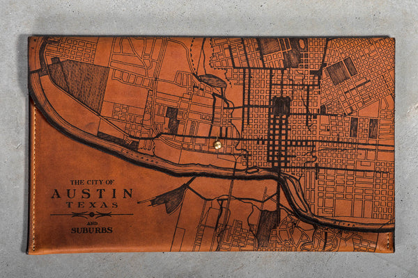Map Clutch | Austin | Tactile Craftworks