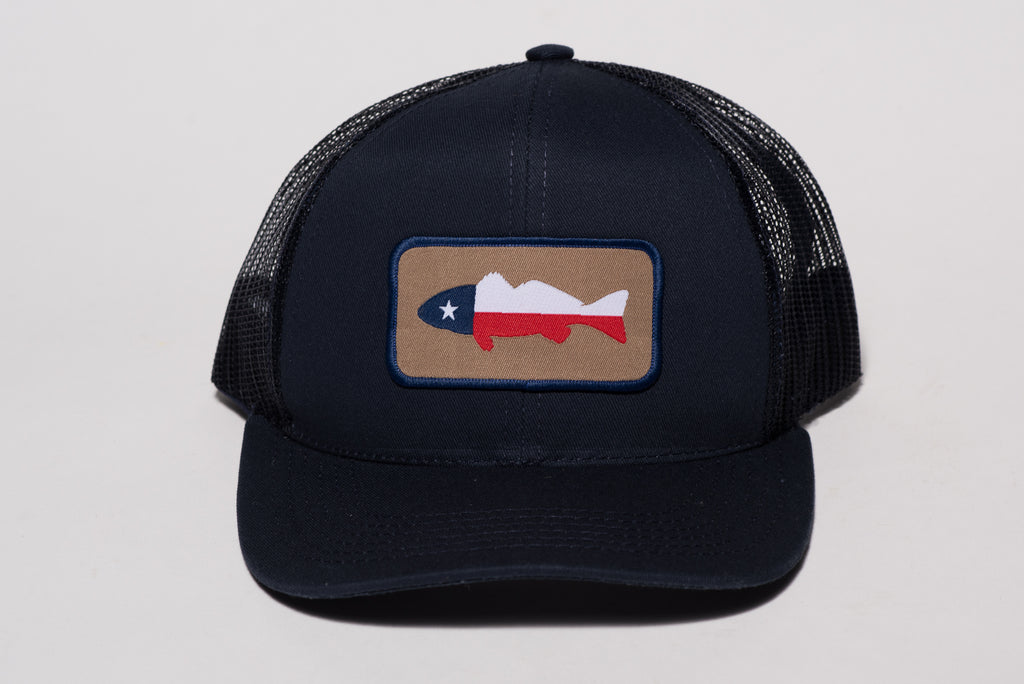 Patch Hat | Navy | Texas Fish Hat | Manready Mercantile