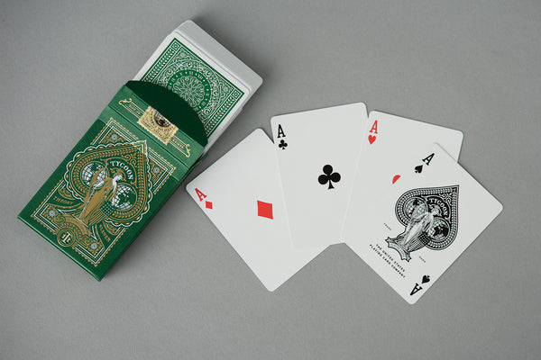 Tycoon Playing Cards in Green by Theory 11 available at Manready Mercantile in Houston Texas and manready.com