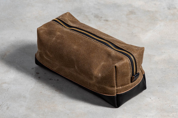 Dopp Kit | Tan & Black | Vermilyea Pelle