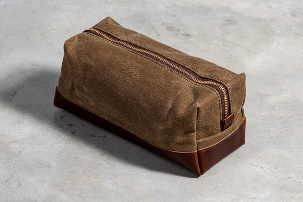 Dopp Kit | Tan & Brown | Vermilyea Pelle