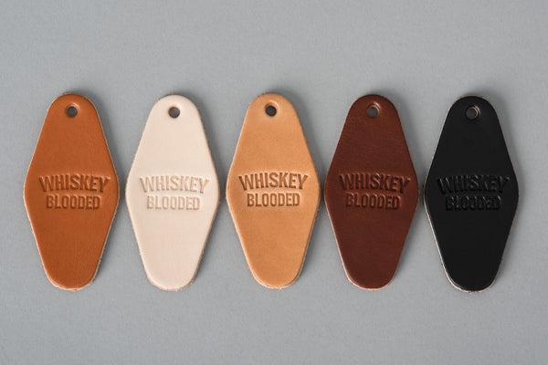 Leather Motel Key Tag | Whiskey Blooded | Manready Mercantile