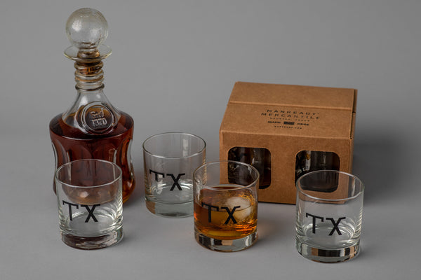 Manready Mercantile Glassware Set with TX available at Manready Mercantile and manready.com