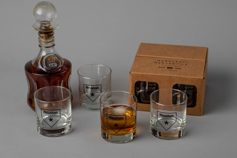 Houston Home Plate Glassware | Set of 4 | Manready Mercantile