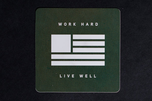Green WHLW Flag Sticker | Manready Mercantile