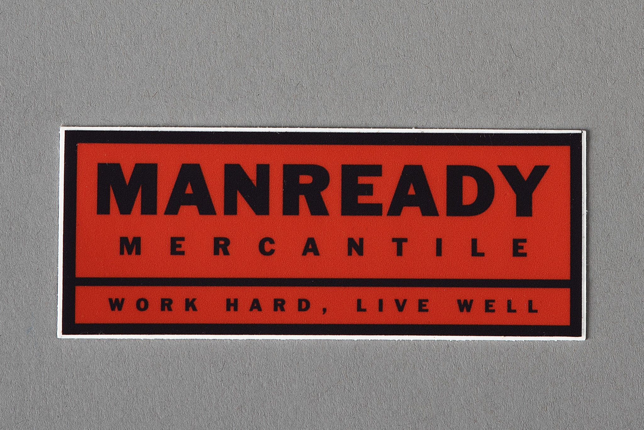 Work Hard Live Well Red | Sticker | Manready Mercantile