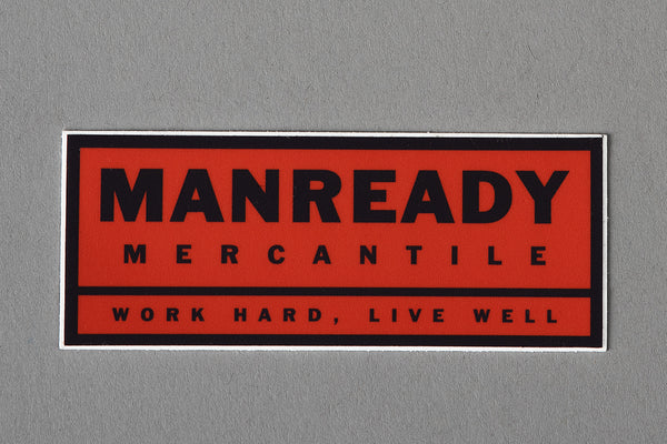 Sticker | Work Hard Live Well | Red | Manready Mercantile