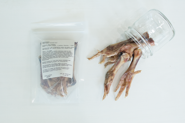 lentelus farms free range chicken foot chew