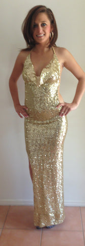 #g029 Sequin Formal Gown