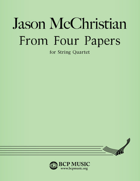 Jason McChristian - From Four Papers
