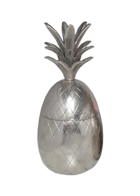 Lg. Alum Pineapple Jar - Nickel