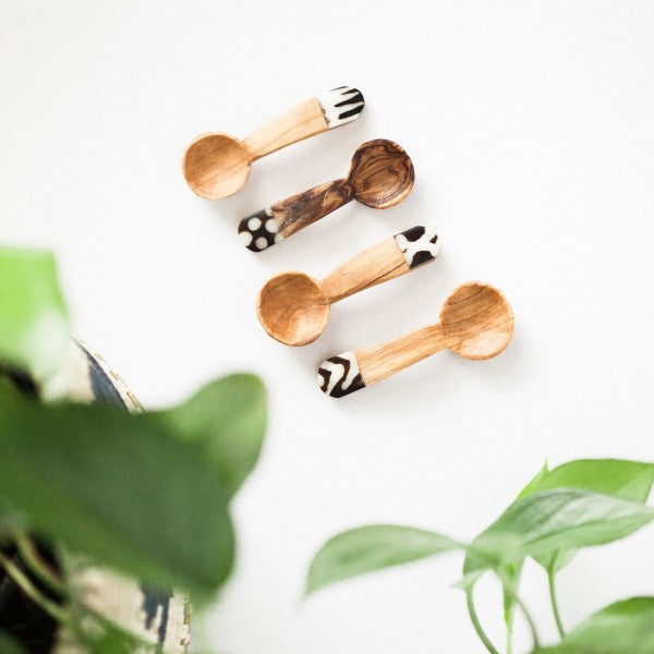 Olive Wood Teaspoon Set