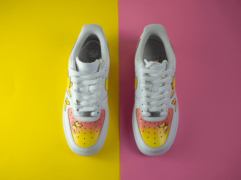 Air Force 1 : #YELLOWPINK BUTTERFLY