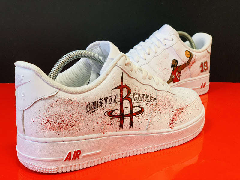 custom air force 1 Air Force one custom  Custom nike  Chaussures personnalisée Customiser chaussures  Air Force one comme des garçons  Customiser basket  Basket personnalisée  Personnaliser chaussures james harden rockets