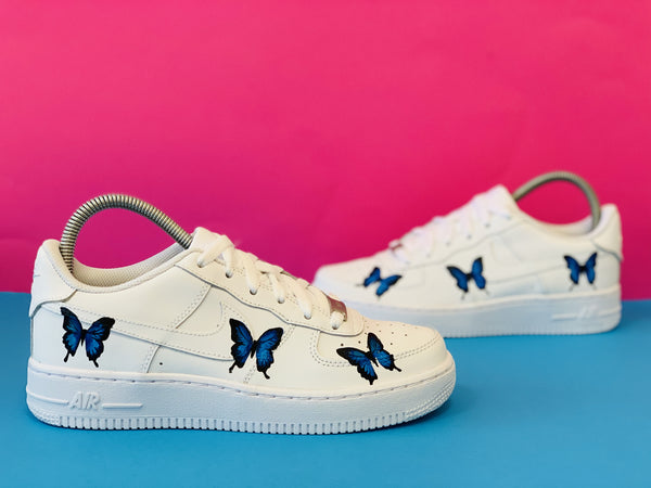 custom air force 1 Air Force one custom Custom nike Chaussures personnalisée Customiser chaussures Air Force one comme des garçons Customiser basket Basket personnalisée Personnaliser chaussures butterfly marlylouleloup