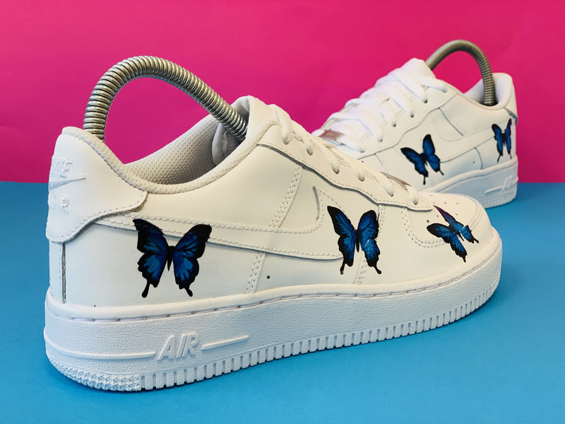 air force 1 papillon bleu