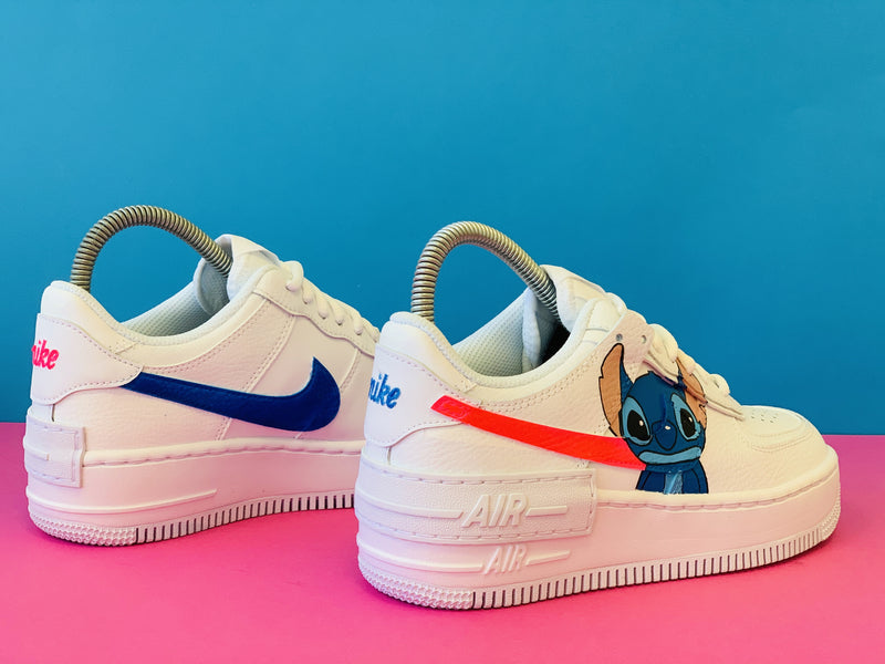 custom air force 1 Air Force one custom  Custom nike  Chaussures personnalisée Customiser chaussures  Air Force one comme des garçons  Customiser basket  Basket personnalisée  Personnaliser chaussures lilo and stitch