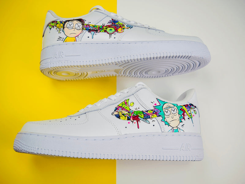 custom air force 1 Air Force one custom  Custom nike  Chaussures personnalisée Customiser chaussures  Air Force one comme des garçons  Customiser basket  Basket personnalisée  Personnaliser chaussures Adidas stan smith rick et morty