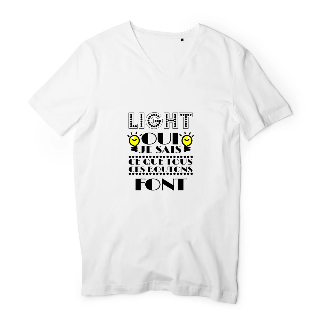 T-Shirts Col V Homme Light