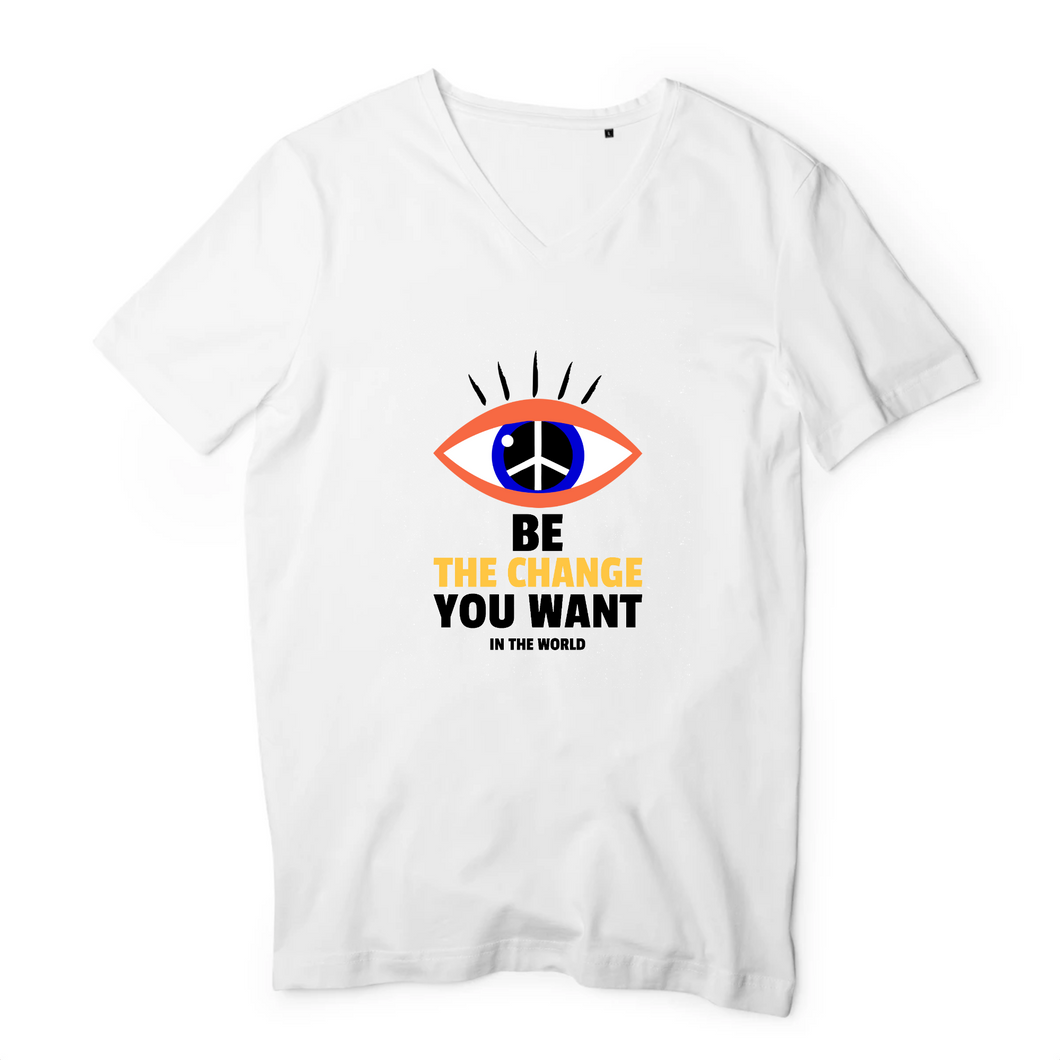 T-Shirts Col V Homme Oeil