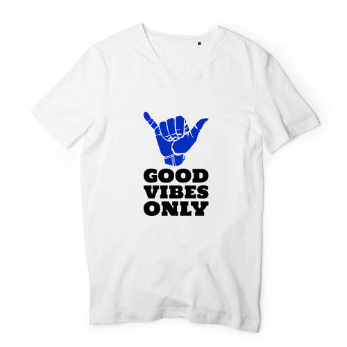 T-Shirts Col V Homme Good Vibes
