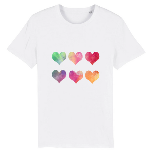 T-shirts Adultes Unisexe Coeurs x 6