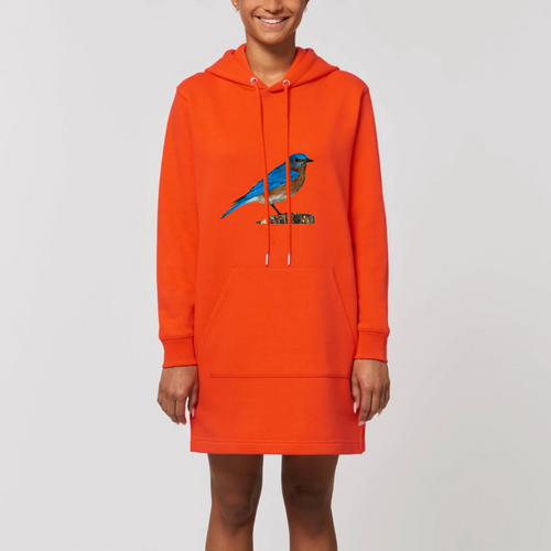 Robe sweat capuche Oiseau