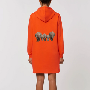 Robe sweat capuche Eléphant
