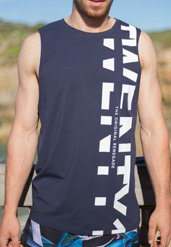 ASCENT MUSCLE TANK  - NAVY
