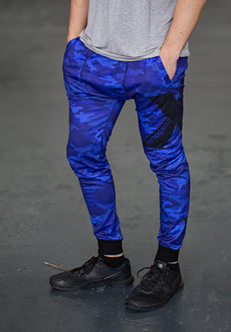 BLUE CAMO TRACKIES - Men's
