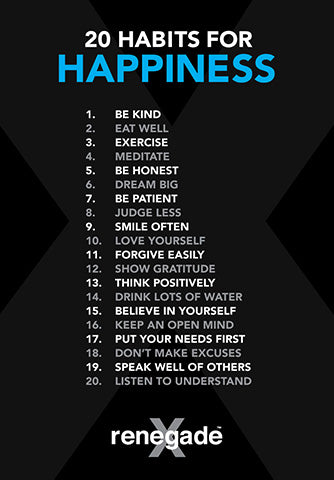 HAPPINESS HABITS - Digital Poster