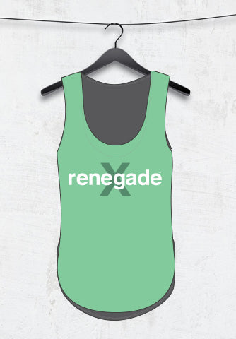 CUSTOM LADIES MUSCLE TANK - MINT GREEN