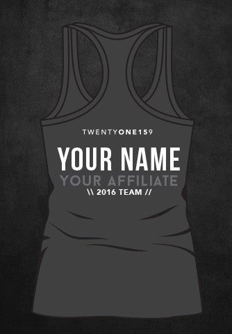 Custom 2016 TEAM Tank - PRE-ORDER GREY