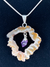 "Amethyst in Natural Agate ""All 7 Chakras Balancing"" Necklace"