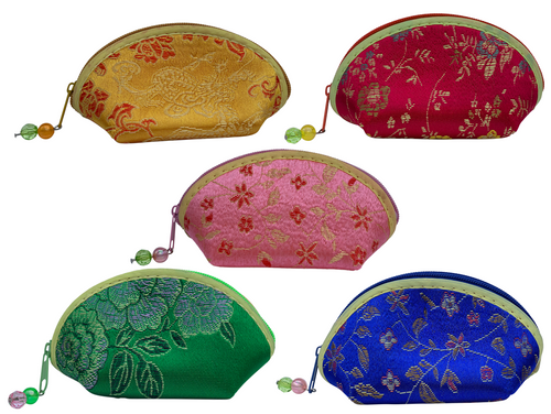 Silk Embroidered Yoni Egg Pouch Bag