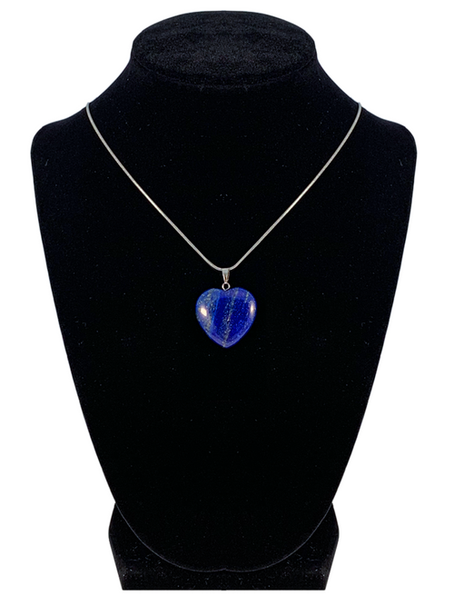 "Lapis Lazuli Heart Shaped Necklace ""Self Expression and Inner Connection"""