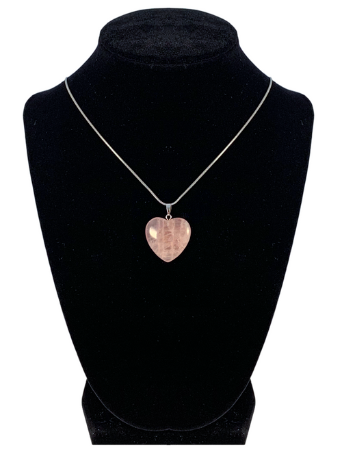 "Rose Quartz Heart Shaped Necklace ""Love and Self Love"""
