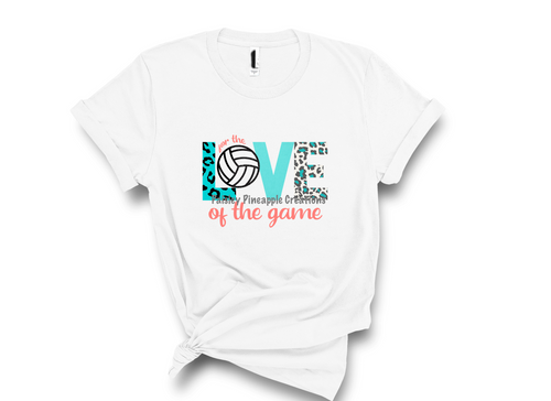 Love of the Game (Volleyball) Sublimation Shirt
